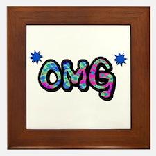 OMG (Oh My God) Framed Tile