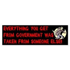Everything You Get From Government Bumper Bumper Sticker