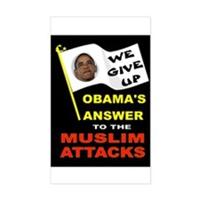 OBAMA SURRENDERS Decal