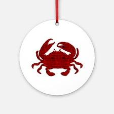 Crab Ornament (Round)