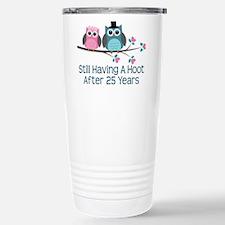 25th Anniversay Owls Travel Mug