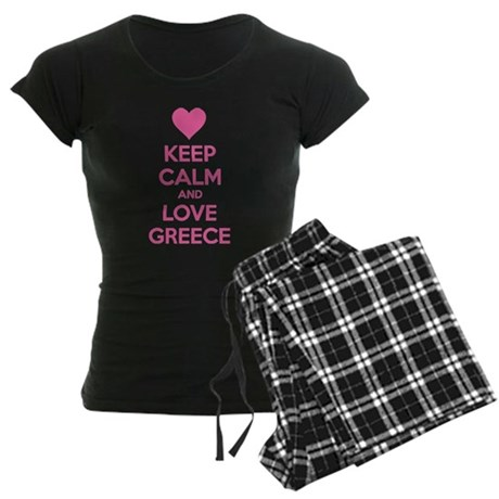 Keep calm and love greece Women's Dark Pajamas