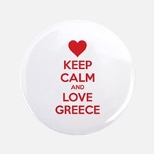 "Keep calm and love greece 3.5"" Button"