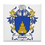 Temple Coat of Arms Tile Coaster