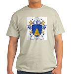 Temple Coat of Arms Ash Grey T-Shirt