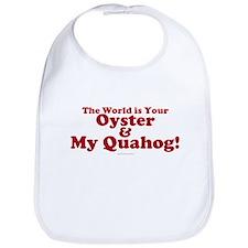 My Quahog Bib in Red lettering