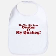 My Quahog Bib in Red lettering