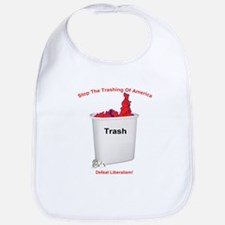 Stop The Trashing Of America Bib