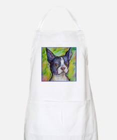 Dog! Boston Bull Terrier! Art! Apron