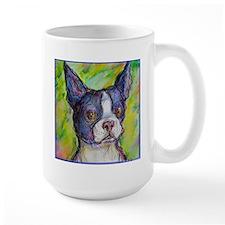 Dog! Boston Bull Terrier! Art! Mug