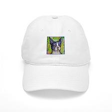 Dog! Boston Bull Terrier! Art! Baseball Cap