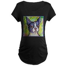 Dog! Boston Bull Terrier! Art! T-Shirt