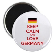 """Keep calm and love Germany 2.25"""" Magnet (10 pack)"""