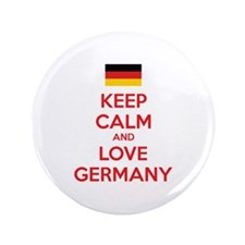 "Keep calm and love Germany 3.5"" Button"