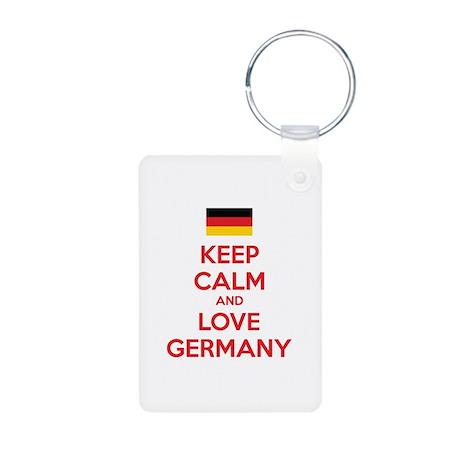 Keep calm and love Germany Aluminum Photo Keychain