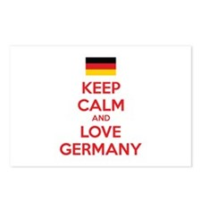 Keep calm and love Germany Postcards (Package of 8