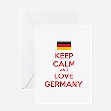 Keep calm and love Germany Greeting Card