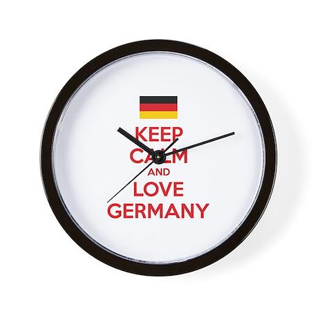 Keep calm and love Germany Wall Clock