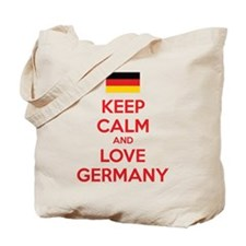 Keep calm and love Germany Tote Bag