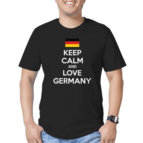 Keep calm and love Germany Men's Fitted T-Shirt (d