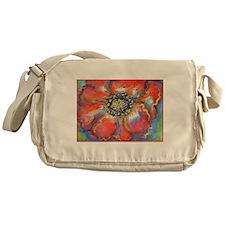 Poppy! Red Flower! Art! Messenger Bag