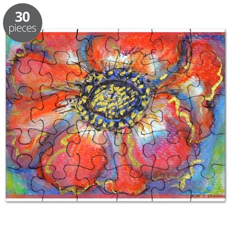 Poppy! Red Flower! Art! Puzzle