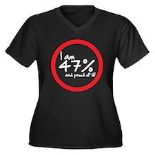 47-percent-V2-01.png Women's Plus Size V-Neck Dark