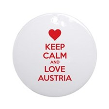 Keep calm and love Austria Ornament (Round)