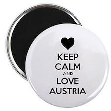 "Keep calm and love Austria 2.25"" Magnet (10 pack)"