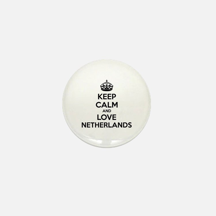 Keep calm and love Netherlands Mini Button (10 pac