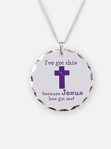 Purple Jesus Has Got Me Necklace