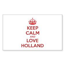 Keep calm and love Holland Decal