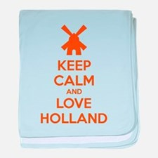 Keep calm and love Holland baby blanket