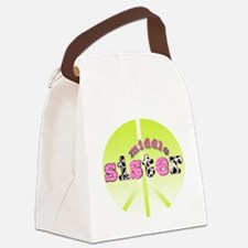 middle sister peace decor Canvas Lunch Bag