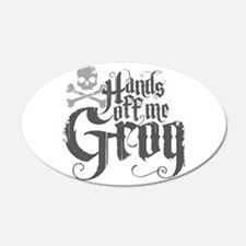 Hands Off Me Grog Wall Decal