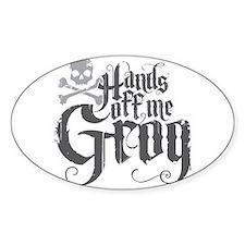 Hands Off Me Grog Decal