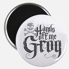 Hands Off Me Grog Magnet