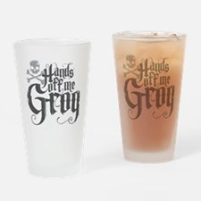 Hands Off Me Grog Drinking Glass