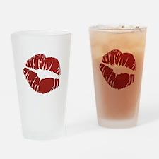 Kiss Drinking Glass