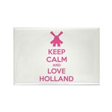 Keep calm and love Holland Rectangle Magnet