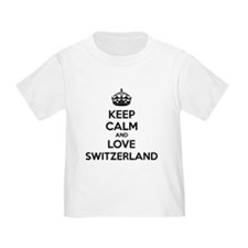 Keep calm and love Switzerland T