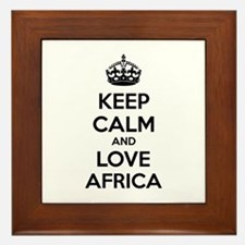 Keep calm and love Switzerland Framed Tile