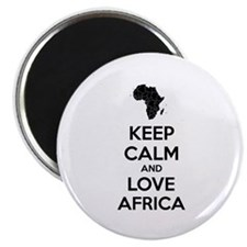 """Keep calm and love Africa 2.25"""" Magnet (10 pack)"""