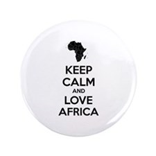 "Keep calm and love Africa 3.5"" Button"