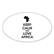 Keep calm and love Africa Decal