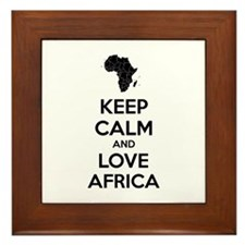 Keep calm and love Africa Framed Tile