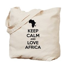 Keep calm and love Africa Tote Bag