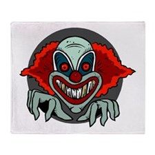 Evil Clown Throw Blanket