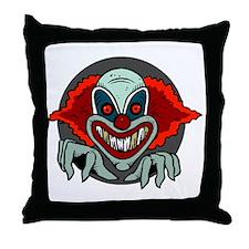 Evil Clown Throw Pillow
