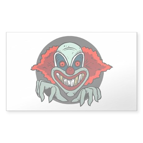 Evil Clown Sticker (Rectangle)